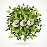 Escritura de la etiqueta cómoda de Eco Imágenes de archivo libres de regalías