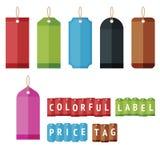 Escritura de la etiqueta colorida Imagenes de archivo
