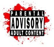 Escritura de la etiqueta consultiva parental Fotos de archivo libres de regalías