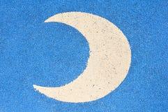 Escritura de la etiqueta crescent de la luna Fotos de archivo libres de regalías