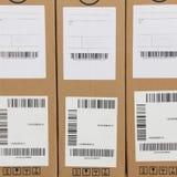 Escritura de la etiqueta de código de barras Fotos de archivo libres de regalías