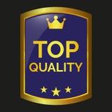 Escritura de la etiqueta de calidad superior Imagenes de archivo