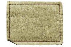 Escritura de la etiqueta de cuero en blanco de los pantalones vaqueros Fotos de archivo libres de regalías
