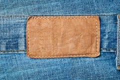 Escritura de la etiqueta de cuero sucia fotografía de archivo libre de regalías