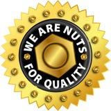 Escritura de la etiqueta de la calidad Imagenes de archivo