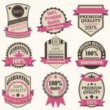 Escritura de la etiqueta de la calidad de Premiuim de la vendimia Imagen de archivo