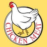 Escritura de la etiqueta de la carne del pollo Imágenes de archivo libres de regalías