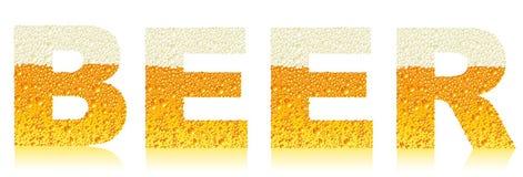 Escritura de la etiqueta de la cerveza Imagenes de archivo