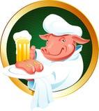 Escritura de la etiqueta de la cerveza libre illustration