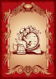 Escritura de la etiqueta de la cerveza Imagen de archivo libre de regalías