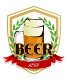 Escritura de la etiqueta de la cerveza Foto de archivo