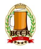 Escritura de la etiqueta de la cerveza Fotos de archivo
