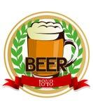 Escritura de la etiqueta de la cerveza Foto de archivo libre de regalías