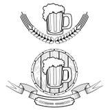 Escritura de la etiqueta de la cerveza Fotografía de archivo