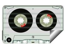 Escritura de la etiqueta de la cinta de audio Foto de archivo libre de regalías