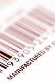 Escritura de la etiqueta de la clave de barras Imagen de archivo