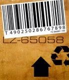 Escritura de la etiqueta de la clave de barras Imagen de archivo libre de regalías