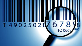 Escritura de la etiqueta de la clave de barras Fotos de archivo libres de regalías