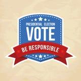 Escritura de la etiqueta de la elección presidencial Foto de archivo
