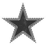 Escritura de la etiqueta de la estrella de la vendimia stock de ilustración