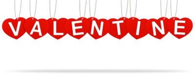 Escritura de la etiqueta de la etiqueta de la tarjeta del día de San Valentín del corazón Foto de archivo