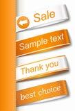 Escritura de la etiqueta de la etiqueta de la tela del vector Foto de archivo libre de regalías