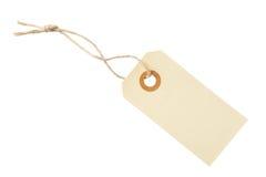 Escritura de la etiqueta de la etiqueta del papel en blanco Foto de archivo libre de regalías