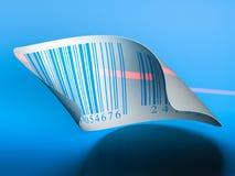 Escritura de la etiqueta de la etiqueta engomada de los códigos de barras Imagenes de archivo