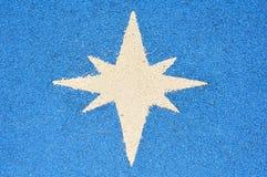 Escritura de la etiqueta de la explosión de la estrella Fotos de archivo libres de regalías
