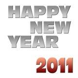 Escritura de la etiqueta de la Feliz Año Nuevo 2011 Imágenes de archivo libres de regalías
