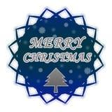 Escritura de la etiqueta de la Feliz Navidad Foto de archivo libre de regalías