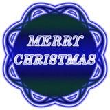 Escritura de la etiqueta de la Feliz Navidad Imagen de archivo