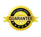 Escritura de la etiqueta de la garantía de la parte posterior del dinero Foto de archivo libre de regalías