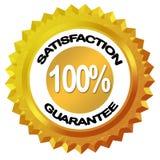 Escritura de la etiqueta de la garantía de la satisfacción