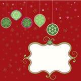 Escritura de la etiqueta de la Navidad Fotos de archivo