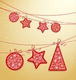 Escritura de la etiqueta de la Navidad Fotografía de archivo