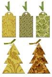 Escritura de la etiqueta de la Navidad en estilo de la vendimia. Fotos de archivo