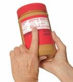 Escritura de la etiqueta de la nutrición Imagenes de archivo
