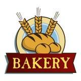 Escritura de la etiqueta de la panadería Imagen de archivo