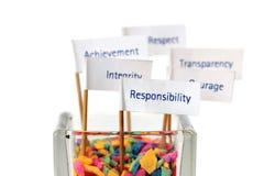Escritura de la etiqueta de la responsabilidad Imágenes de archivo libres de regalías