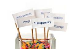 Escritura de la etiqueta de la transparencia Fotos de archivo libres de regalías