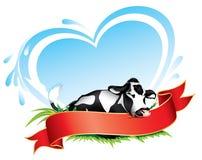 Escritura de la etiqueta de la vaca Fotografía de archivo libre de regalías