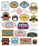 Escritura de la etiqueta de la vendimia Fotografía de archivo libre de regalías