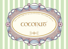 Escritura de la etiqueta de la vendimia Foto de archivo