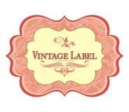 Escritura de la etiqueta de la vendimia Imagen de archivo