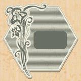 Escritura de la etiqueta de la vendimia Fotografía de archivo