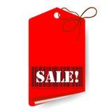 Escritura de la etiqueta de la venta Fotos de archivo libres de regalías