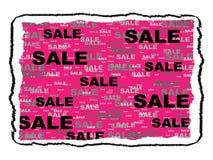 Escritura de la etiqueta de la venta Foto de archivo libre de regalías