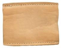 Escritura de la etiqueta de los pantalones vaqueros Imágenes de archivo libres de regalías
