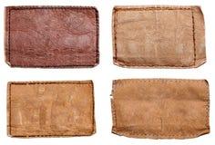 Escritura de la etiqueta de los pantalones vaqueros Fotografía de archivo libre de regalías